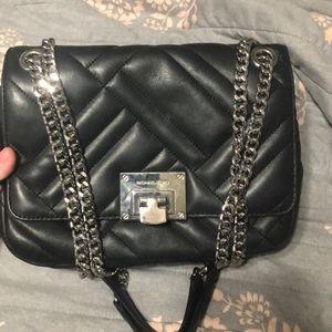 Michael Kors Silver Chain Shoulder Bag Black